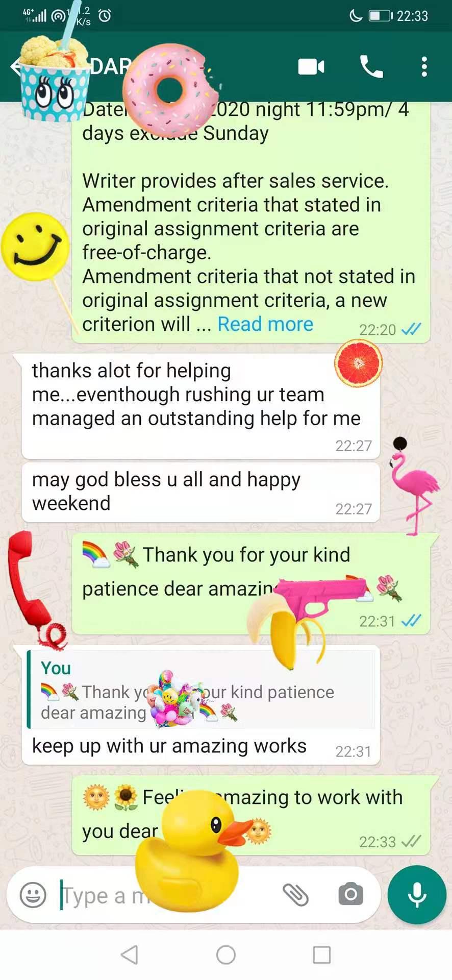 在十二月五号二零二零年,一位客户感激我们的服务:)On 5th December 2020, a client thanked our service ❤
