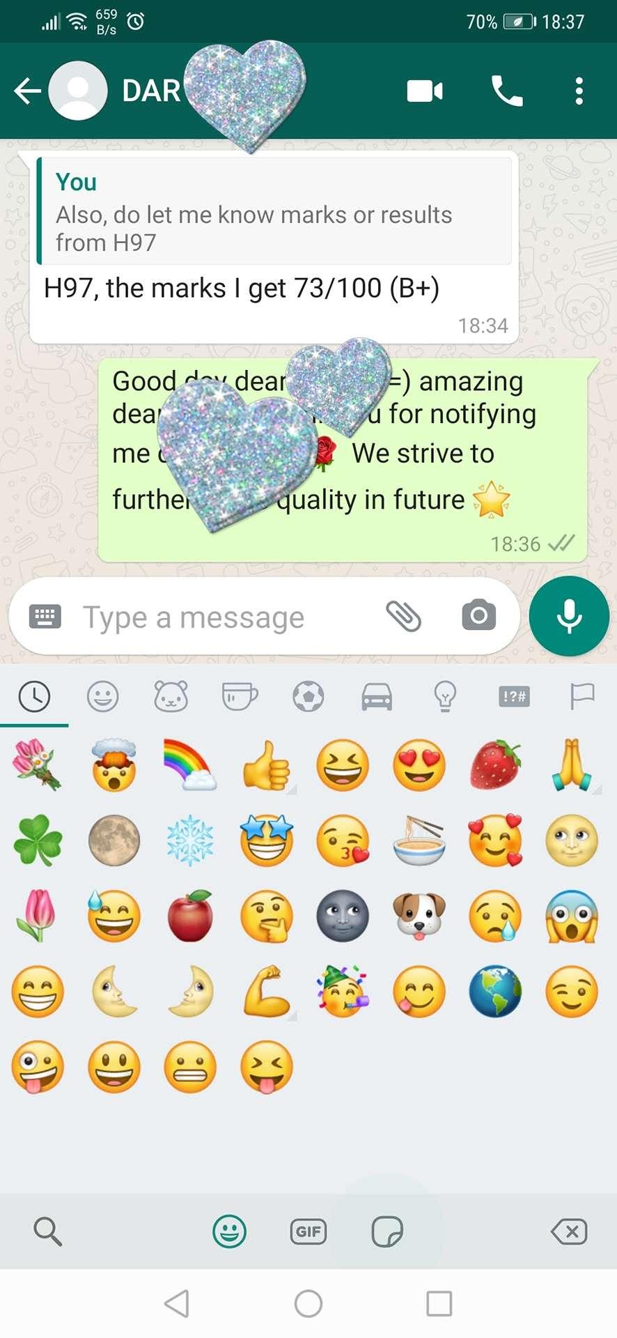 在十一月一号2020年一位客户说她上了我们的论文辅导后得了B+:)On 1st November 2020, a client said she got B+ after attending our assignment tuition 🌹